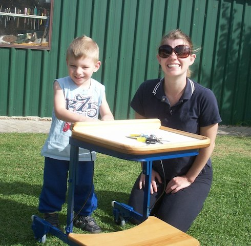 tray table for child with a disability
