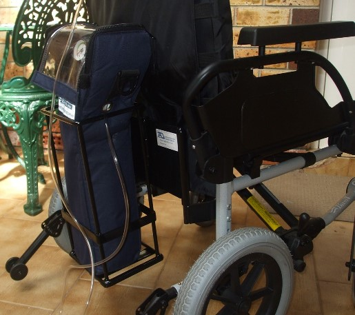 Oxygen Bottle Holder for wheelchair