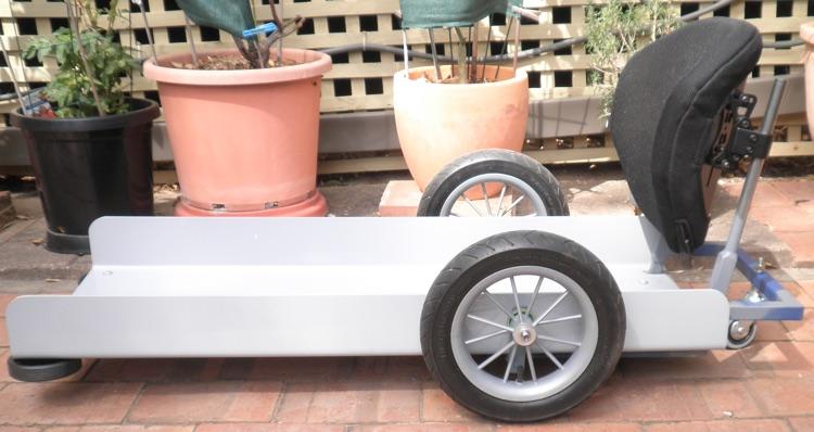 Castor Cart padded and upholstered