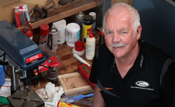 TADSA volunteer John Taylor in his shed
