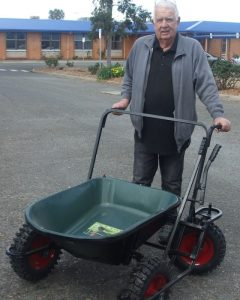 TADSA all terrain four wheeled wheelbarrow John