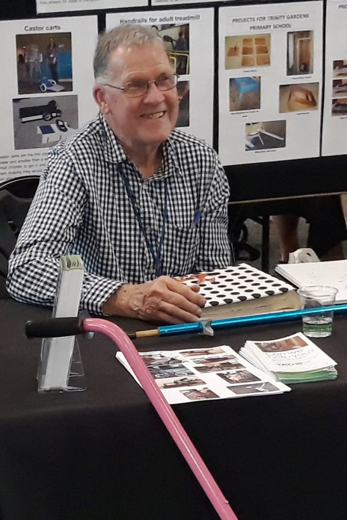 TADSA Volunteer Tech Member Des at stall