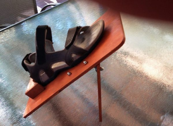 shoe platform on angle