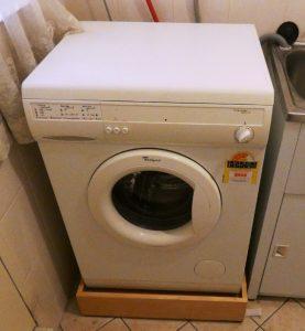 washing machine raiser in use